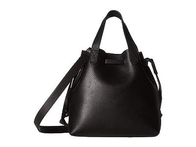 Madewell Small Drawstring Transport Crossbody (True Black) Handbags
