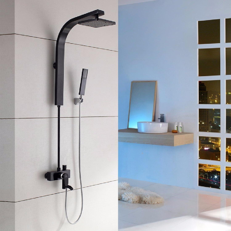 YFF@ILU Farbe dusche Anzüge, Einstellung des schwarzen Goldes raum Aluminium Persnlichkeit kreative Kpfe Dusche, Dusche, w