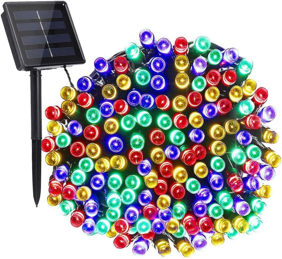 Solar String Lights, 72ft 200 LED Solar Fairy Lights with 8 Modes, Waterproof Outdoor String Lights for Patio, Garden, Party, Christmas, Holiday Decorations (Multicolor)