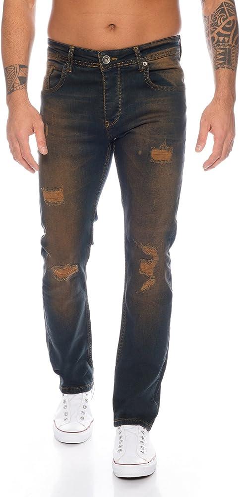 Rock creek ,jeans da uomo regular fit,98% cotone, 2% elastan RC-2097
