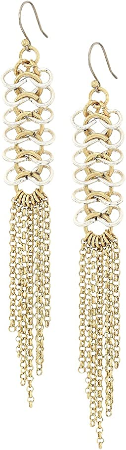 Lucky Brand - Chain Link Fringe Earrings