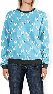 Rainbow Rules Bunny Bow Blue - 2XL - Womens Sweatshirt