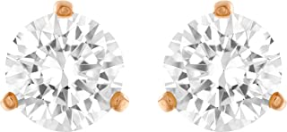 SWAROVSKI Women`s Solitaire, Clear Crystal, Rose-Gold Tone Plated Jewelry Collecton