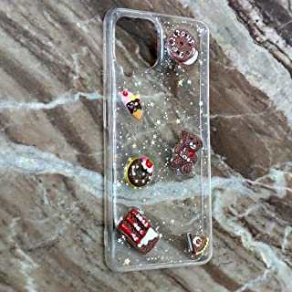 Transparent sillicon Glitter Back Cover 3D chocolate Samsung Galaxy A22 4G
