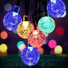 Solar Garden Lights Outdoor Waterproof, 50LED Globe Fairy Lights , 8 Mode 7M/24Ft Indoor/Outdoor Solar String Lights for G...