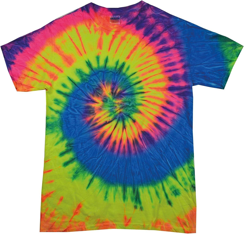 Colortone Camiseta con Cuello Redondo Tie-Dye niños TD02B ...