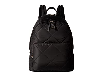 Kate Spade New York 15 in. Quilted Nylon Tech Backpack (Black) Backpack Bags