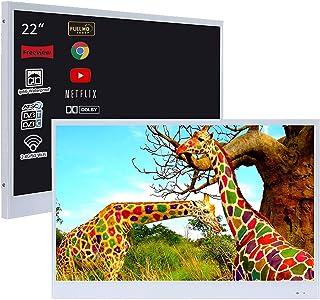 Sponsored Ad – Soulaca Waterproof Mirror TV, 22inch Smart Magic Bathroom TV IP66 Waterproof with Integrated HDTV(ATSC) Tun...