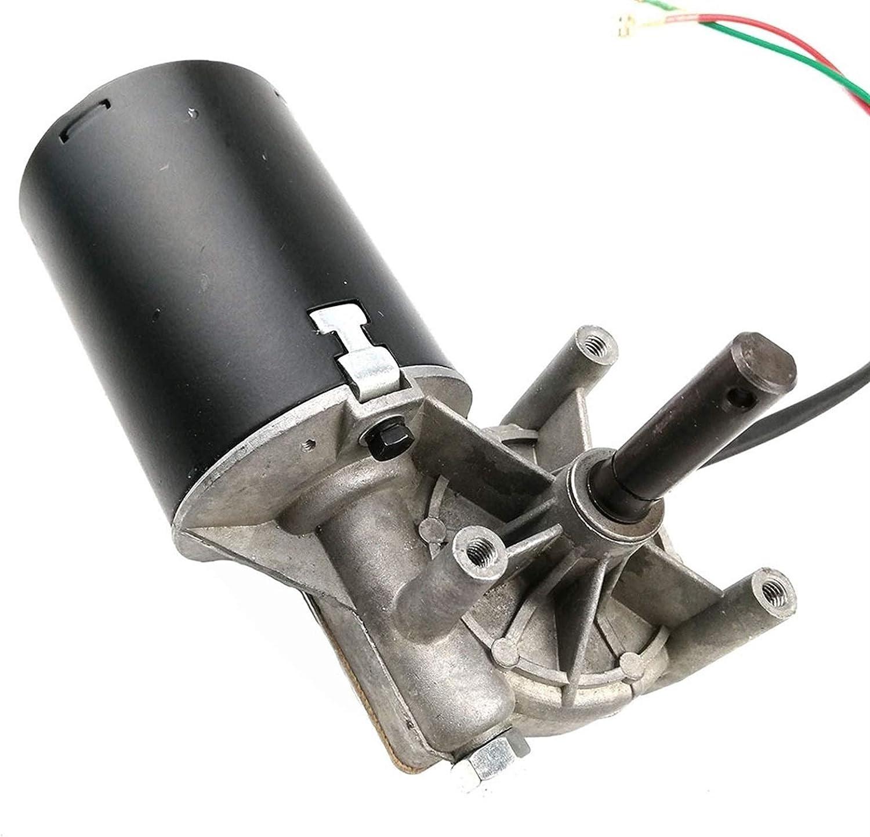 PYunLi-Motor de corriente continua GW7085 DC 24V 8N.M 4A Motor reductor de engranajes de alto par de torsión de alta velocidad, limpiaparabrisas, motor de parrilla de barbacoa, a la izquierda, piezas
