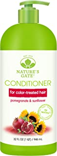 Nature's Gate Natural Pomegranate and Sunflower Hair Defense Conditioner with Jojoba Oil for Damaged Hair, Vegan, Non GMO, Paraben Free, Gluten Free, Soy Free, Cruelty Free, 32 Ounce (Pack of 1)