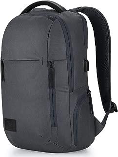 High Sierra Business Proslim USB Pack - Slim Business Backpack for Men or Women - Ideal for Travel - Mercury Heather/Black