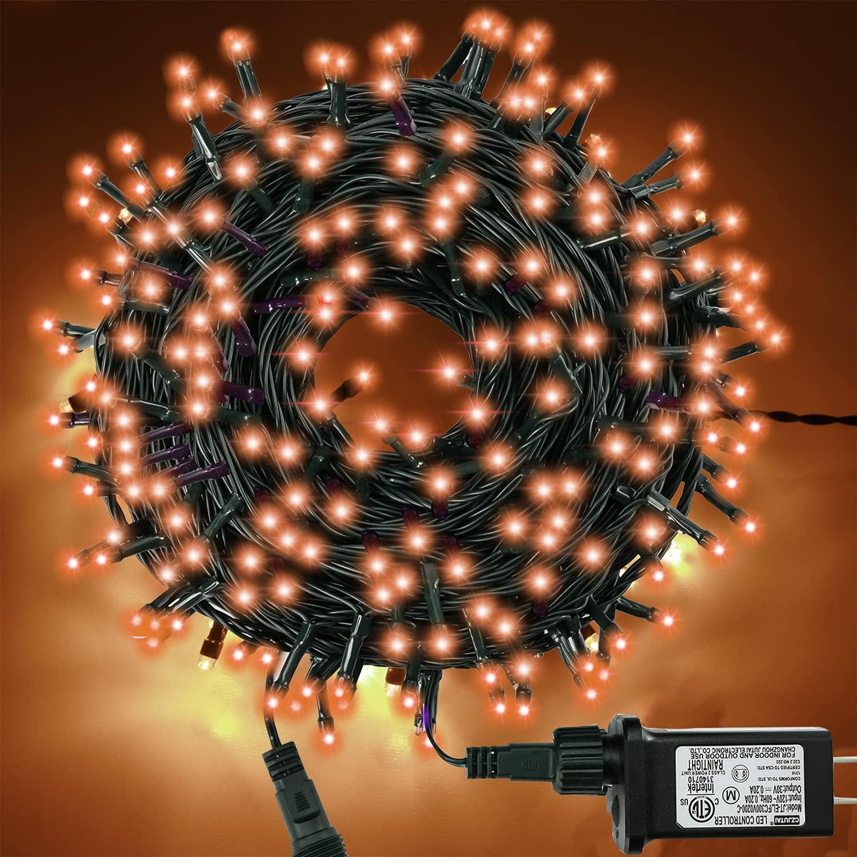 300LED Halloween Orange String Lights Outd Al sold out. 100FT Modes 8 Indoor Max 57% OFF