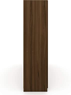 """Manhattan Comfort Gramercy Contemporary Modern Freestanding Wardrobe Armoire Closet, 82.48"""", Brown"""