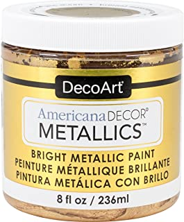 DecoArt Decoart Americana Decor Metallics 8oz 24K Gold, DECADMTL-36.4, 24K Gold, 1