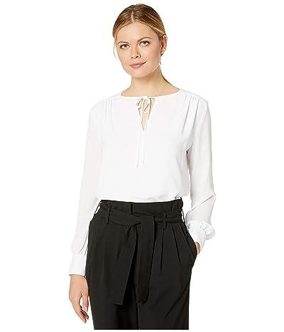 Karen Kane Crossover Tie Top (Off-White) Women