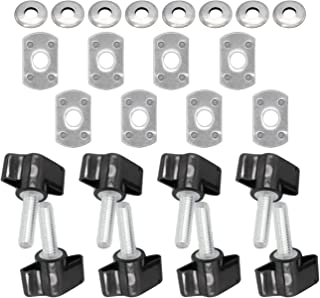 MFC Universal 8 Pcs Hard Top Quick Removal Fastener Thumb Screw and Nut Kit for 1995-2019 Jeep Wrangler YJ TJ JK JL Sports Sahara Freedom Rubicon X & Unlimited X 2 Door 4 Door (Black)