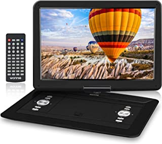WONNIE ポータブルdvdプレーヤー 17.9型 リージョンフリー 15.4インチ液晶画面 1366*768解像度 5000mAhバッテリー USB/SDカード/AV入出力 日本語取扱説明書付き 一年保証 黒