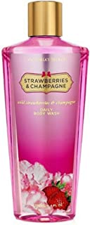 Victoria's Secret Fantasies Strawberries and Champagne Daily Body Wash 8.4 Ounces