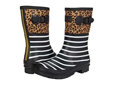 Joules Molly Welly (Tan Leopard Stripe) Women