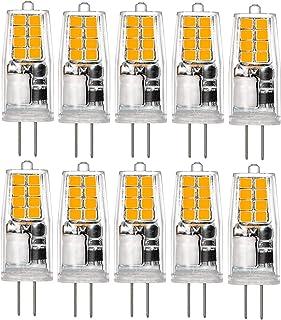 Bombillas LED G4, 1,5 W, 12 V, repuesto para bombillas halógenas de 20 W, 16 ledes, luz blanca cálida de 3000 K, no regulable, para iluminación en casa, gabinete, lámpara de mesa (paquete de 10)