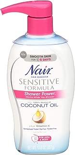 Nair Shower Power Sensitive Formula Coconut Oil & Vit E - Hair Remover 12.6 Oz