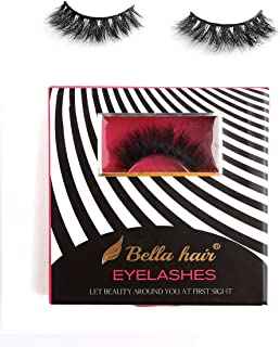 【Voluminous】 Dramatic 3D Siberian Mink Lashes, Handmade Criss-crossed Mink Fur Strip False Eyelashes 1 Pair Box (STYLE 05) by Bella Hair