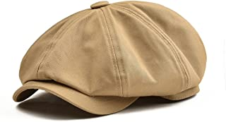 BOTVELA Men's 8 Piece Newsboy Flat Cap 100% Cotton Gatsby Ivy Golf Cabbie Hat