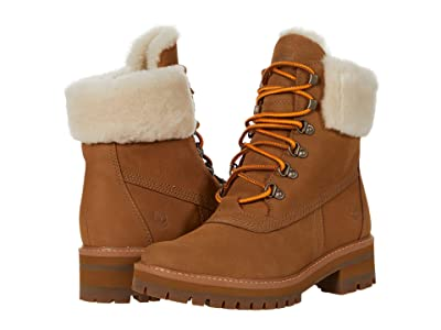 Timberland 6 Courmayeur Valley Shearling Waterproof Boot (Medium Brown Nubuck 1) Women