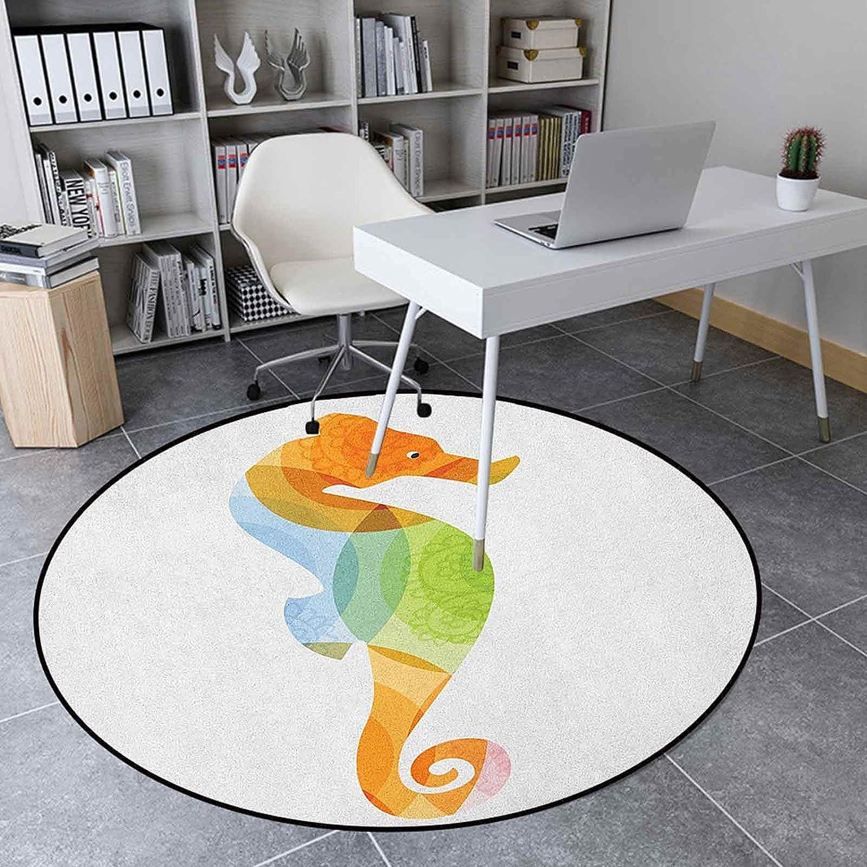 Animal Round Rug 2.95' Floor for Bedroom Livin 4 years warranty Mat Austin Mall Carpet