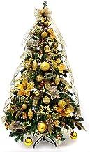 WSJTT Seasonal Décor Christmas Trees with Gold Holiday Decoration Lighted Xmas Tree Eco-Friendly PVC Spruce Hinged Pine Tr...