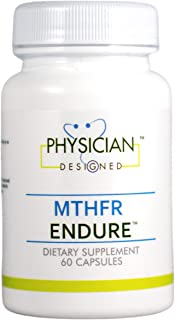 Physician Designed MTHFR Endure Supplement - Best Active B-Complex Multivitamin with Optimized Methylated Folate, Methylat...