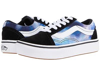 Vans Kids ComfyCush Old Skool (Little Kid) ((Galaxy) Black/True White) Kid