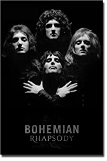 Mile High Media Queen Poster Black and White Wall Art Print - Photo Quality Portrait Bohemian Rhapsody (24x36)