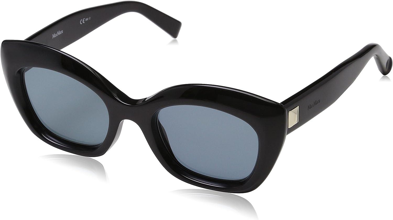 Max Mara Women's Mm Prism VII Square Sunglasses, Black, 50 mm