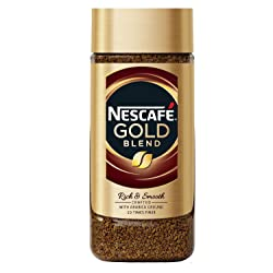Nescafe Gold Rich and Smooth Coffee Powder, 200g Glass Jar