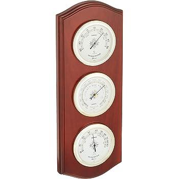 エンペックス気象計 温度湿度計 ウェザーガイド気象計 壁掛け用 日本製 ブラウン BM-716