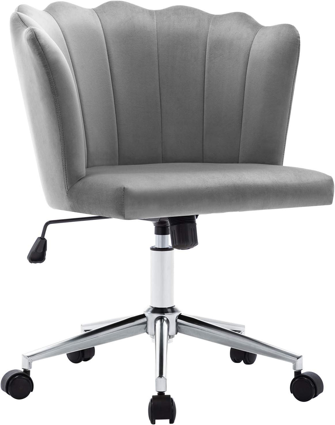 Duhome Modern Home Office Chair Washington Mall Velvet Ranking TOP15 Grey Ad Desk Fabric