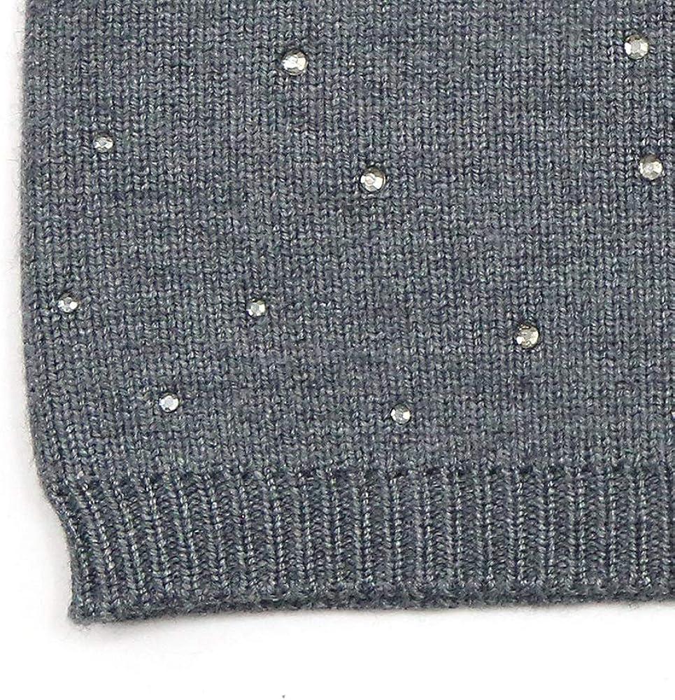 Bandeau en laine tricot/ée avec strass L/éger et chaud