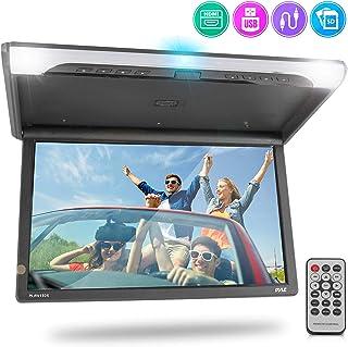 19.4-Inch Overhead Flip-Down Car Monitor - HD 1920x1080p Widescreen Car Roof Mount Monitor, Vehicle Flip Down Overhead Scr...