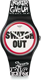 Swatch Out Dial Silicone Strap Men's Watch SUOB160