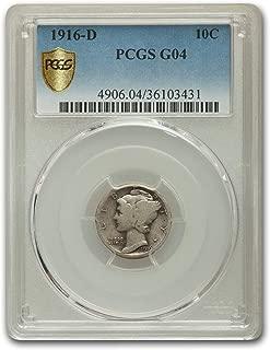 1916 D Mercury Dime Good-4 PCGS Dime G-4 PCGS