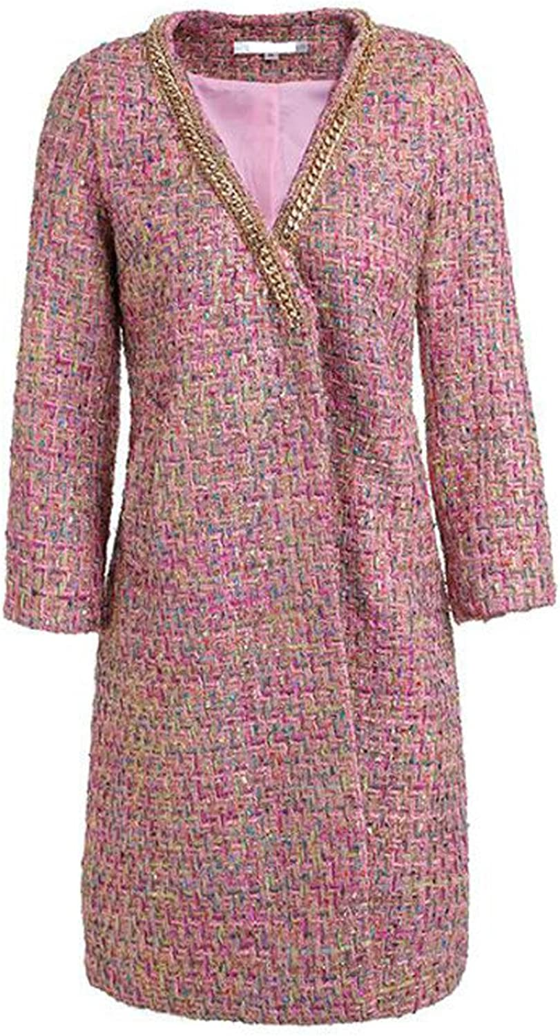 Worsted Floral Worsted Long Trench Coat
