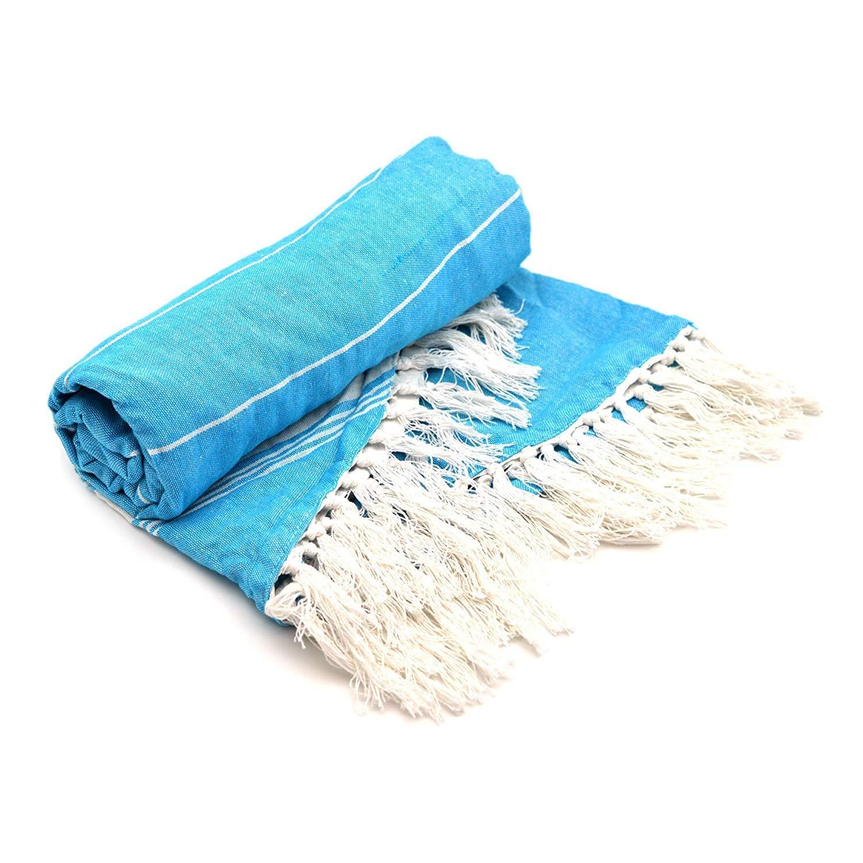 WYJW Toalla de Playa Redonda de algodón - Azul - Paquete de 2 190 ...