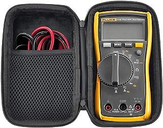 HESPLUS Schutzhülle für Fluke 117/116/115/114 Digital Multimeter, stoßfest, wasserabweisend, EVA Hartschale mit Innentasche für Messleitungen