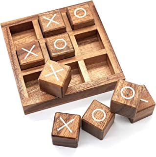 Kids Board Game, Noughts And Crosses Game XO Wood Board Game Toy Logical Thinking Training Educational Toy For Kids