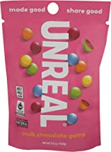 Unreal, Candy Coated Milk Chocolate Gems, 5 Ounce