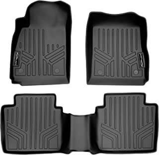 SMARTLINER Custom Fit Floor Mats 2 Row Liner Set Black for 2014-2019 Chevrolet Impala
