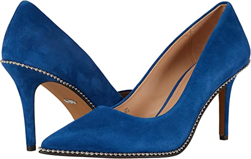COACH 85 mm Waverly Pump with Beadchain,Ocean Blue