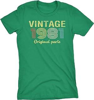 40th Birthday Gift Womens Shirt - Retro Birthday - Vintage 1981 Original Parts