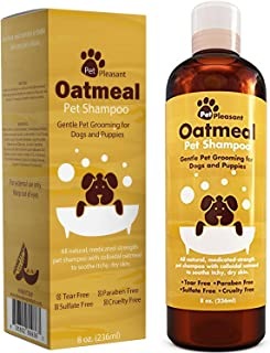 BOOCOSA Honeydew Oatmeal Pet Shampoo for Dogs & Puppies – Best All Natural Doggy Shampoo & Conditioner for Itchy & Dry Skin – Medicated Strength Deodorizer - 8 oz